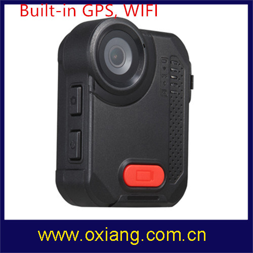 Ambarella A12 160 Degree Wide Angle 2 Meters Shock-Proof IP65 Police Body Worn Video Camera pictures & photos