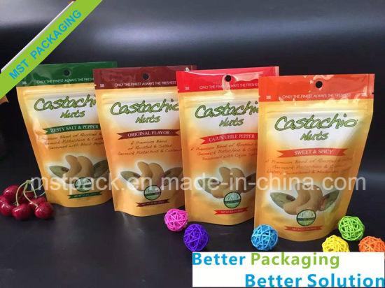 Dry Fruit Packaging Bag/ Snacks Plastic Stand up Bag