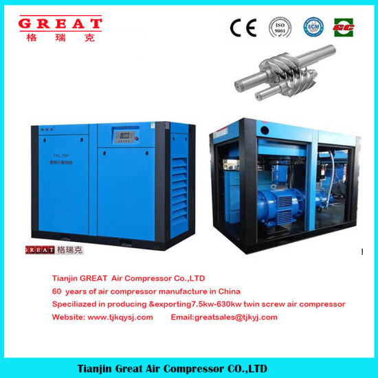 2018 Best Price! 7-13bar Electric Mute Stationary Industrial Rotary Twin Screw Air Compressor pictures & photos