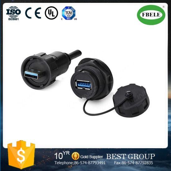 USB Male /& Female Socket Plug Panel Mount USB 3.0 Waterproof Connector IP67
