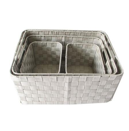 Rectangle Woven Strap Storage Basket Box Set of 5 pictures & photos