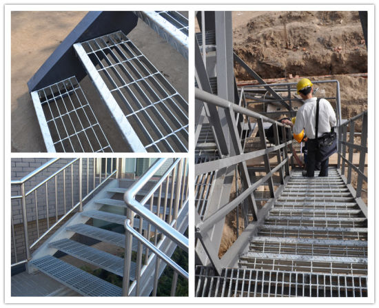 Hot DIP Galvanized Steel Step Ladder Iron Stair Material And Stairs, Outdoor