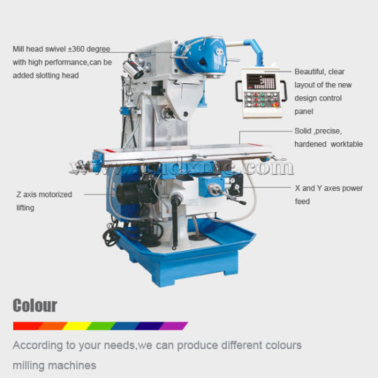 High Precision Universal Milling Machine with Ce (XQ6226W) pictures & photos