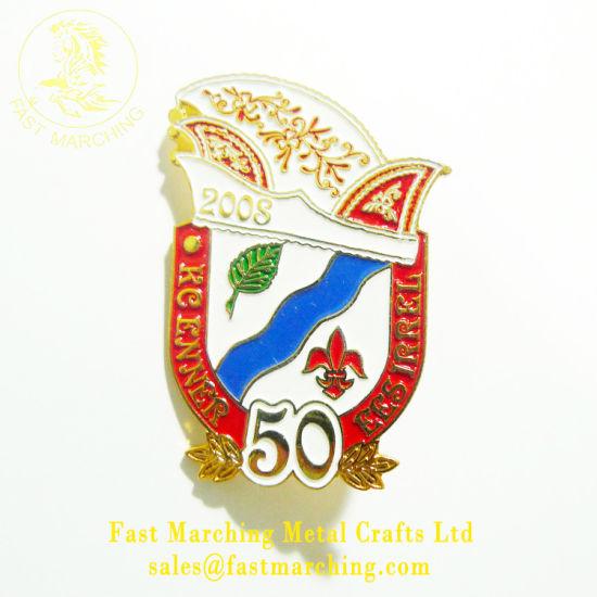 Custom Securitas Pin Rainbow Metal Logo Badge Maker with Adhesive