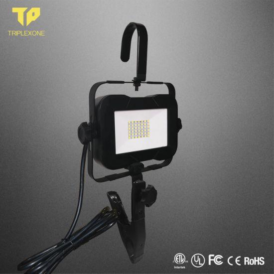 ETL 1500lm Waterproof Rechargeable Flood Light LED Light Emergency Work Light IP65 10W/15W