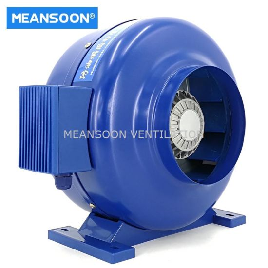 6 Inches Oil Smoke Resistant Inline Duct Fans with Sealed Motor