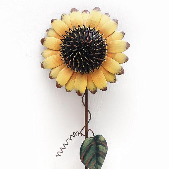 Sunflower Metal Garden Stakes Set of 3 Lawn Yard Decor Flower Stake