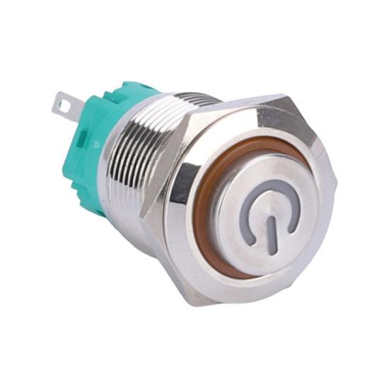 19mm 5V 12V 24V LED Momentary Pushbutton Switch with Socket Plug