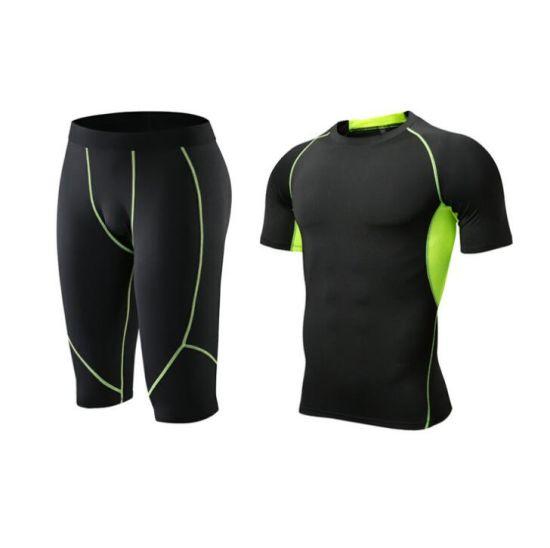 Cheap Wholesale Men's Training&Compression Gym Jogger Sports Suit