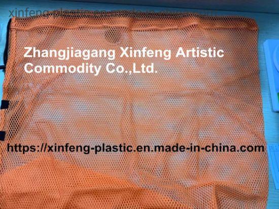 Eco Friendly Fashion Custom Design PVC Mesh Zipper Pouch Document Bag with Handle