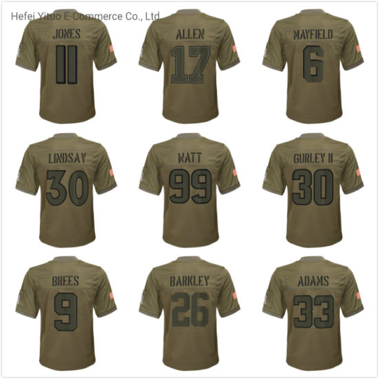 2019 Salute to Service New Arrival Unisex Customized Polyester Camo Team Football Jerseys pictures & photos
