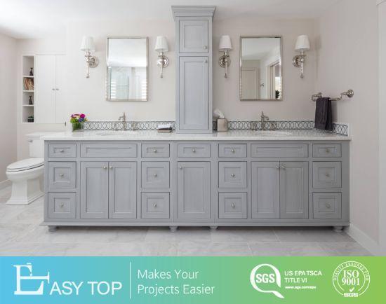 Easy Clean Simple Style Plywood/PVC Board Bathroom Vanity Set for Home