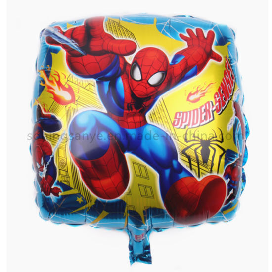 Dto0221 Party Decorations Inflatable Helium Cartoon Design Spider Man Foil Balloons