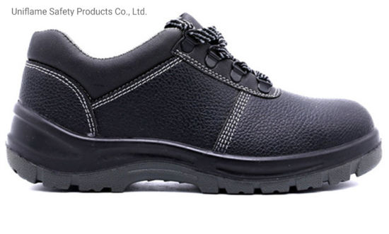 Men Leather Steel Toe PU Sole Safety Waterproof Working Shoes Ufe030 Genuine Leather Industrial Industry Steel Toe Safety Work Shoes for Men Unisex Safety Shoes