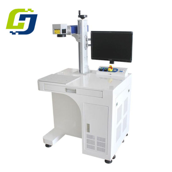 Air Cooling Metal Desktop Fiber Laser Marking Machine with 20W /30W pictures & photos