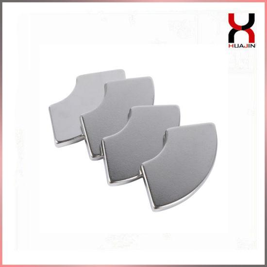 High Grade Permanent Strong NdFeB Irregular Arc Motor Magnet for Industry
