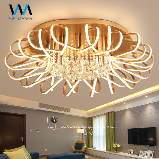 China Warm Light Chandelier Rose Golden