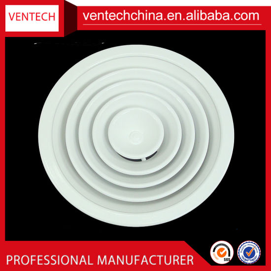 Air Conditioning Aluminum Round Diffuser Air Vent Grill