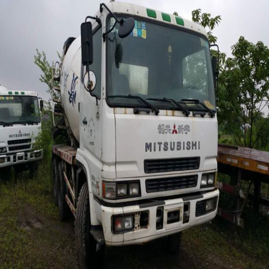 Japanese Mitsubishi Concrete Mixer Truck for Sale 25 Ton 300-400HP Used  Mixer Truck