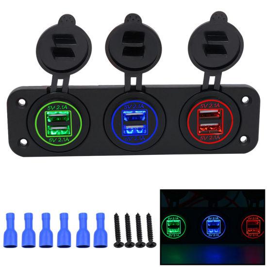 5V 4.2A Dual 2 USB Charger Socket Adapter Power  for 12V 24V Car univer vehicle