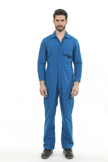 100%Cotton Blue Flame Retardant Coverall in Workwear
