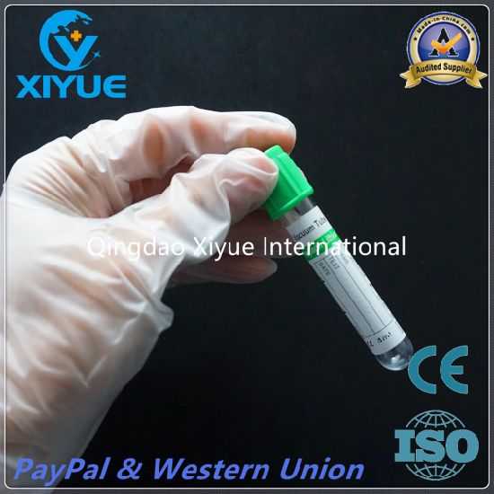 Disposable Lithium Heparin Medical Vacuum Blood Tube with Ce&ISO