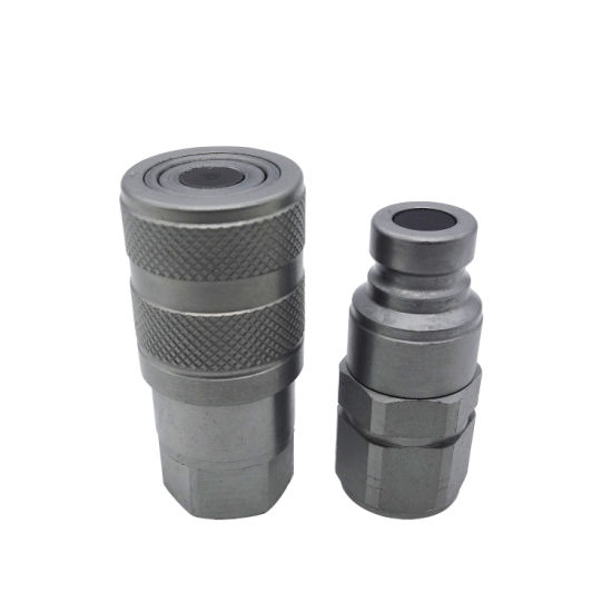 Flat Face Hydraulic Hose Couplings Quick Couplers Drip Free