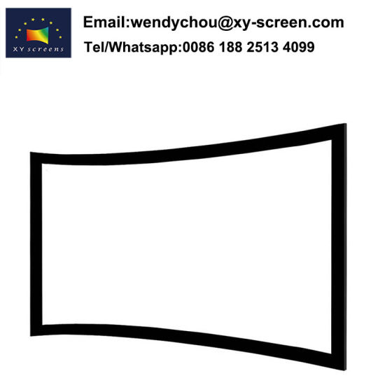 China High Quality 150ich Curved Fixed Frame Projection Screen ...