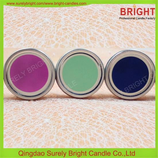 SGS, MSDS, BSCI Audit Factory Custom Sticker Gift Box Tin Candles