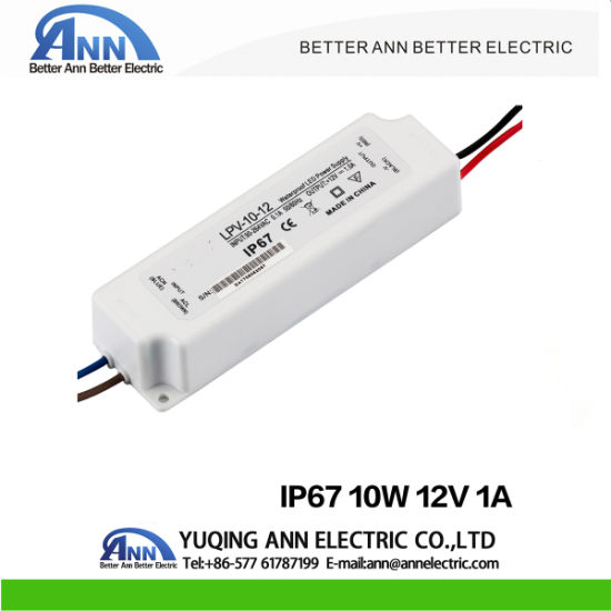 China IP67 Plastic 10W LED Driver Waterproof 24V LED Power