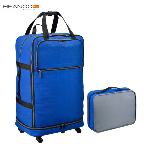 a0401b13b016 Small Folding Suitcase Spinner Luggage Travel Wheeled Rolling Wheeled Bags