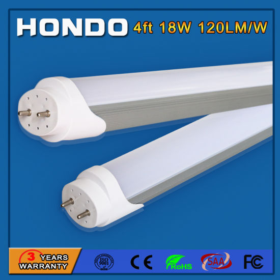 High Quality Aluminum T8 LED Tube Light 18W D26*L1200mm 3000K 4000K 6500K for Conference Lighting pictures & photos