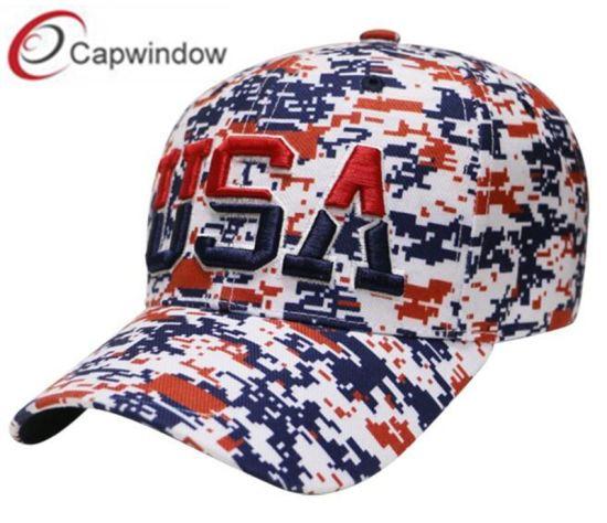 China Camo Baseball Cap with 3D Embroidery Custom Logos - China ... 5d841d76246
