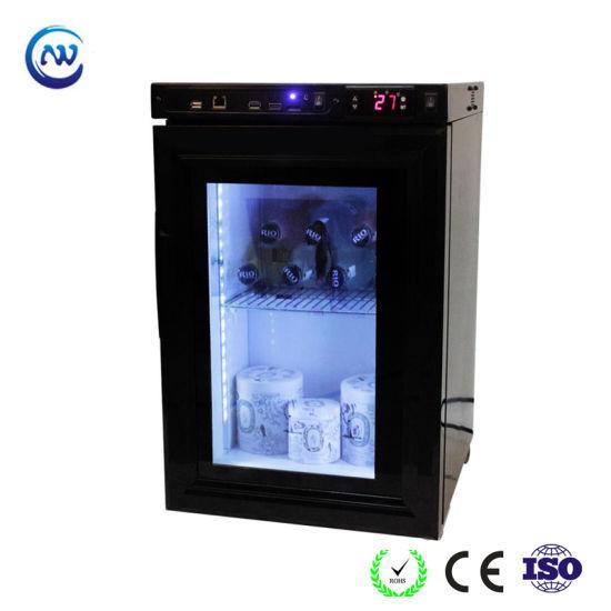 Glass Door Mini Display Refrigerator with Transparent LCD Screen (JGA-SC21HL)