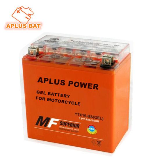 Sealed Maintenance Free Lead Acid Rechargeable Gel Motorcycle Storage Batteries