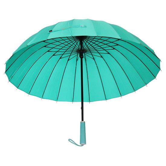 Super Strong Rainbow Windproof Umbrella, 24 Rib Straight Rain Umbrella (YZ-19-04)