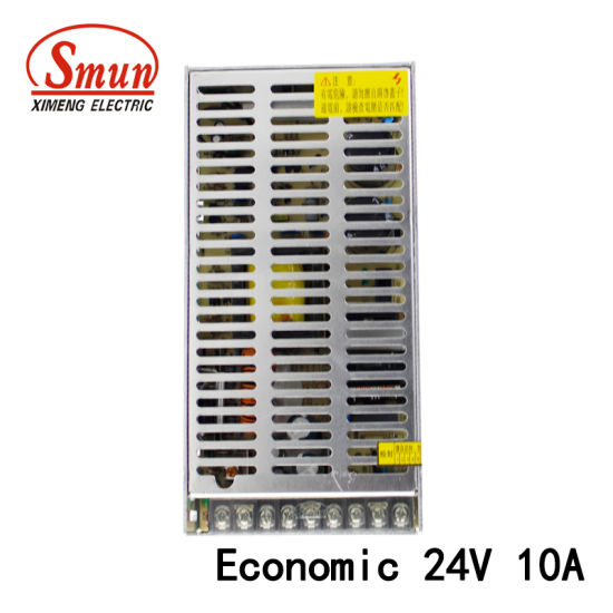250W 24VDC 10A Economic LED Switching Mode Power Supply SMPS
