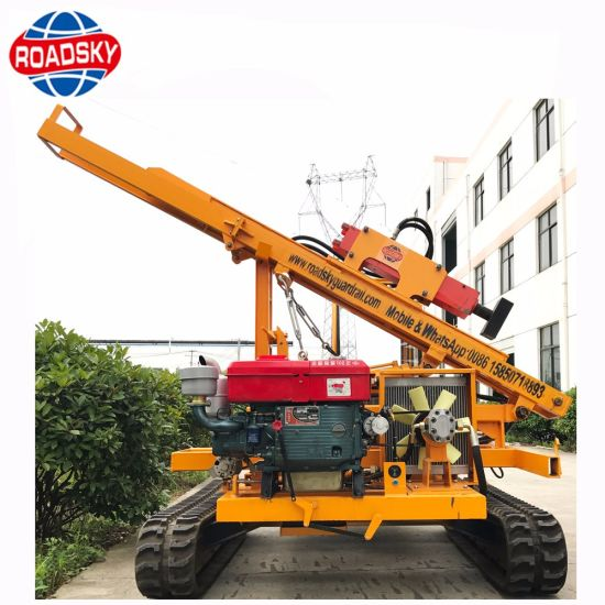 Mini Hydraulic Crawler Pile Driver for Solar Panels Installation pictures & photos