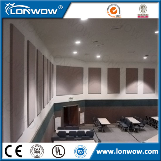 China Decorative Acoustic Fabric Covered Fiberglass Wall Panels ...