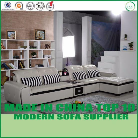Dubai Living Room Chairs Modern Leather Corner Sofa