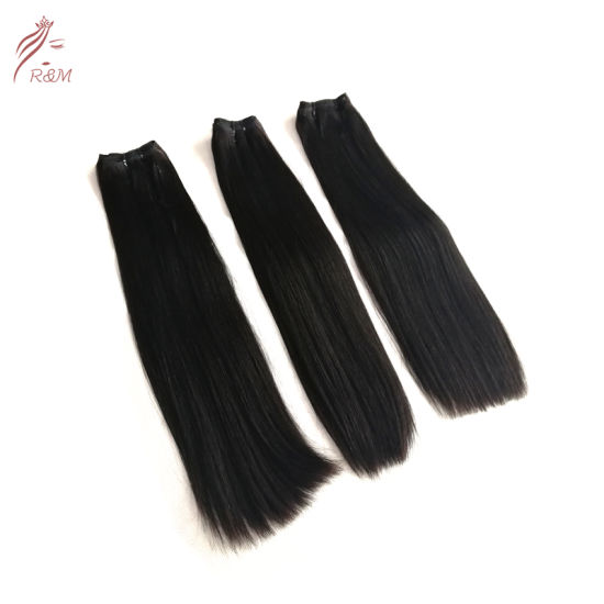 Dropshipping Double Weft Free Shedding Wholesale Cuticle Aligned Human Hair Bundle and Closure
