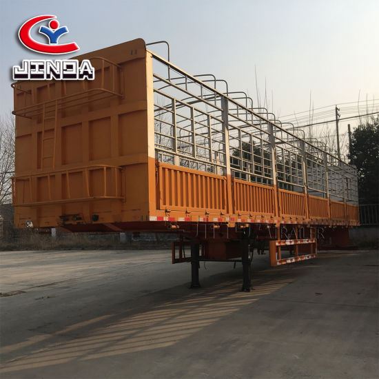 4 Axle Heavy Duty Side Wall/Side Board/Drop Side/Fence/Stake Utility Cargo Truck Semi Trailer with Container Lock