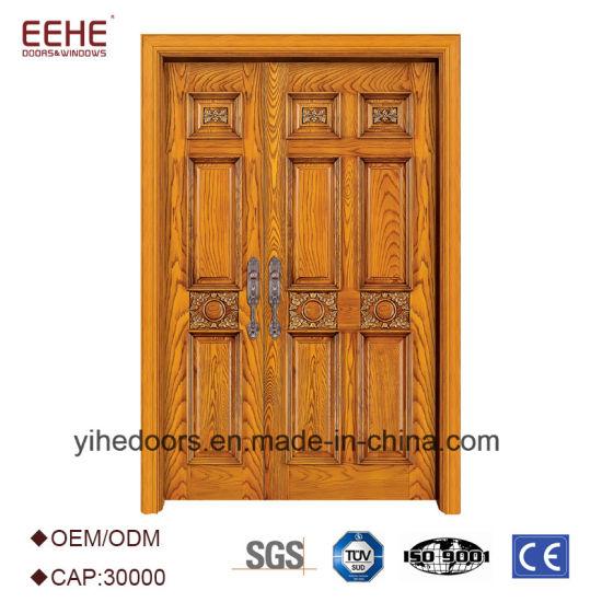 China Main Door Wooden Double Door Designs Swing Doors - China ...