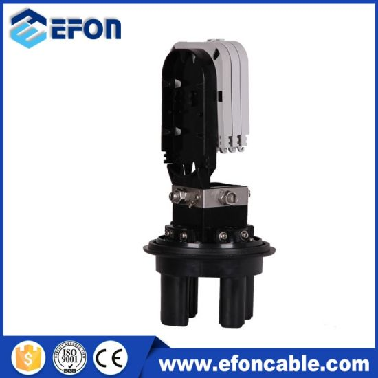 Dome Type Mechanical Sealing Method up to 48 Cores Fiber Optic Splice Closure