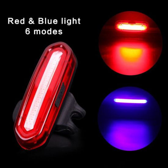 USB Rechargeable 6 Modes LED Bicycle Riding Lamp COB Bike Front Rear Lights