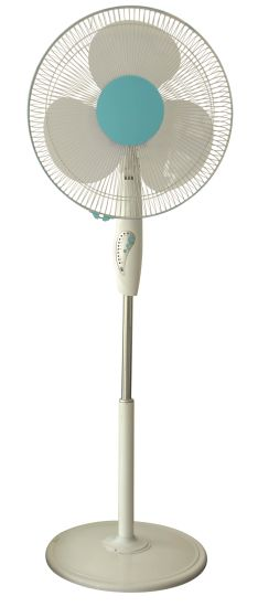 "White Color 16"" Oscillating Stand Fan with Remote pictures & photos"