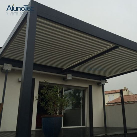 Electric Gazebo Aerofoil Shape Canopy Awning Pergola & China Electric Gazebo Aerofoil Shape Canopy Awning Pergola - China ...