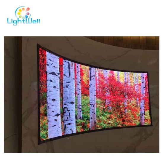 Front Service P1.923 3840Hz Full Color LED Advertising Display Screen Board with Hanging Cabinet