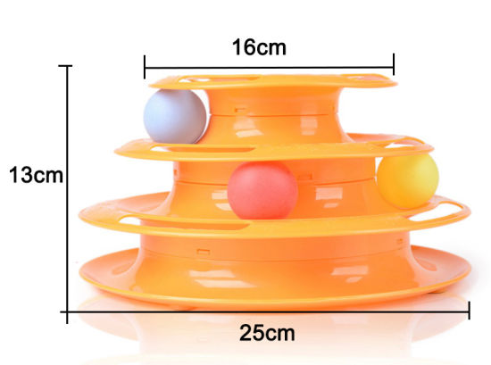 Pet Supply Plastic Accessory Three-Layer Turntable Track Cat Pet Toy pictures & photos