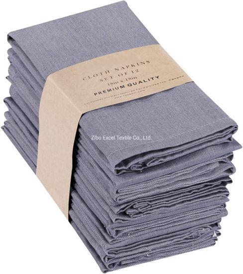 Whole Sale High Quality Poly/Cotton Table Napkins